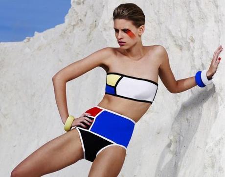 I costumi da bagno mondrian swimwear collection u2013 moda & arte