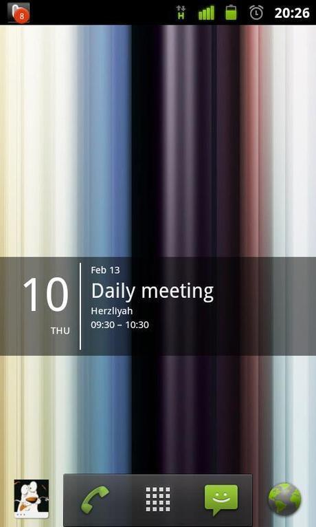 Widget: calendario minimalista per Android