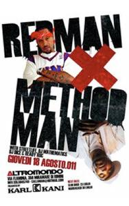 REDMAN e METHODMAN // Due leggende del rap il 18 Agosto all' Altromondo di Rimini! Save the date!