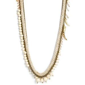 Sequin 'Anita' Chain & Bead Long Necklace