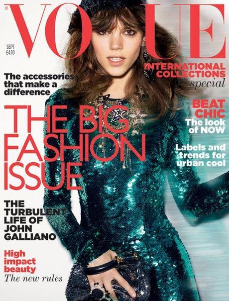 Freja Beha Erichsen sulla Copertina di Vogue UK, Settembre 2011