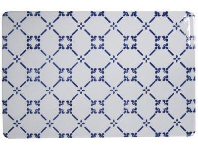 White and blue ceramics paperblog - Made a mano piastrelle ...