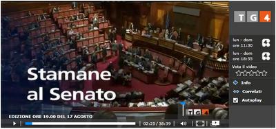 Tg4, Emilio Fede tarocca il servizio sul Senato