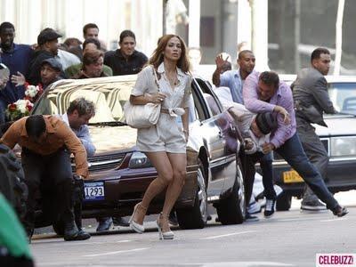 JLo from the block sta girando il clip di Papi a Los Angeles ...