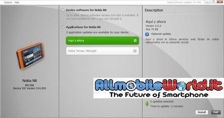 Nokia Software Updater : Aggiornamento per Nokia Symbian Anna