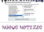 Tattoolettering: crea scritta tatuaggio