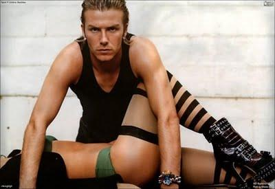David Beckham in vintage Dolce & Gabbana su Vogue Sport 2004