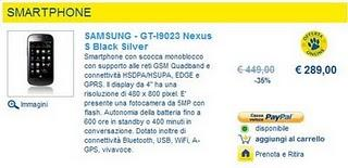Samsung Wave II e Nexus S in offerta da Euronics
