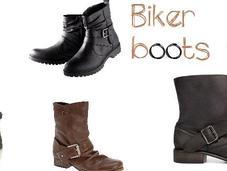 Shopping biker boots