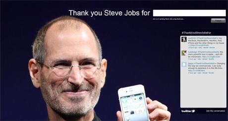 Thank You Steve Jobs For, I Fan Possono Ringraziare L'Ex CEO Di Apple