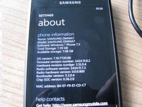 Samsung Omnia 7 Windows Phone 7.5 Mango Rom ufficiale (ufficiosa) : Video, Download