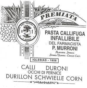 Callo e durone: perchè soffrire? La pasta callifuga Murroni è infallibile dal 1908!