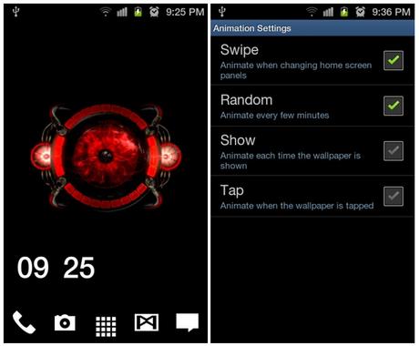 """Live wallpaper / Sfondo animato Android : Droid Bionic """"red eye"""" Bellissimo da non perdere!"""