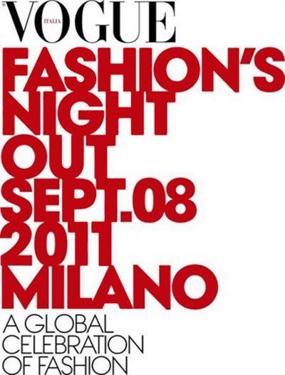 Fashion Night  on Vogue Fashion Night Out 2011 Milano