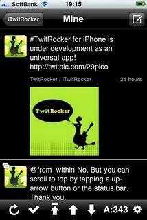 L'app TwitRocker il client twitter per iPad