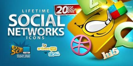 300 icone social network