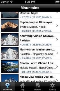 L'app Montagne del mondo
