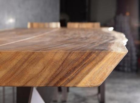 Tavolo e sedia trog la massima espressione del legno for Tavola da pranzo in legno