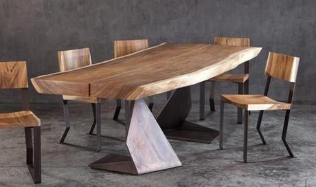 Tavolo e sedia trog la massima espressione del legno for Sedie moderne per tavolo in legno