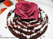 Torta cioccolato forma rosa