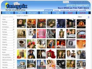 Fancypix fotomontaggi online ed effetti sulle tue foto for Effetti foto online