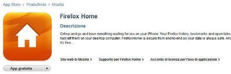 Firefox Home per iPhone disponibile su App Store – Sincronizza Firefox con Safari Mobile