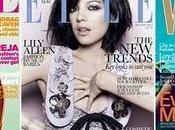 stesso abito sulla copertina Vogue Inghilterra, Elle Same dress covers British Vogue,