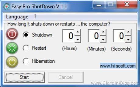 Programmi per spegnere il computer ad un orario preciso for Programma rendering free