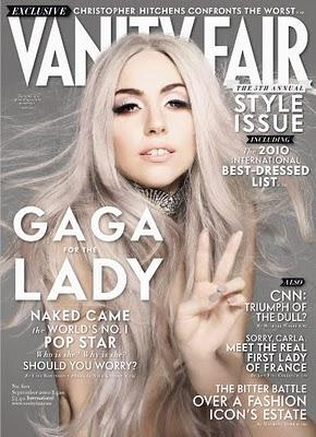 Lady GaGa on Vanity Fair US Sept. cover
