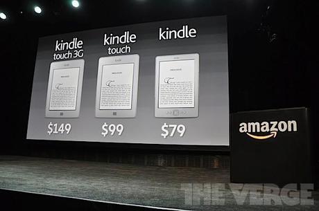 Amazon : Kindle a 79 $ e Kindle Touch a 99 $