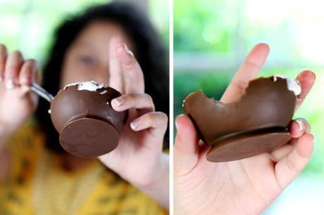 Come fare delle ciotoline di cioccolato