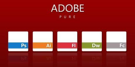 50 icone con tema i software Adobe