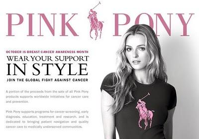 Pink Pony Campaign by Ralph Lauren and Fondazione Veronesi