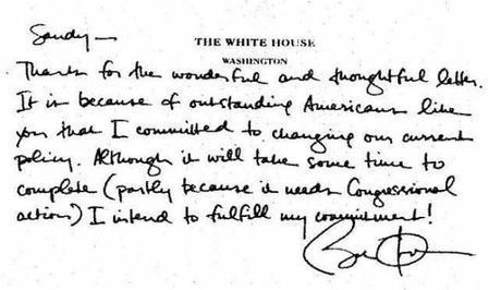 Grafologia: la scrittura di Barack Obama