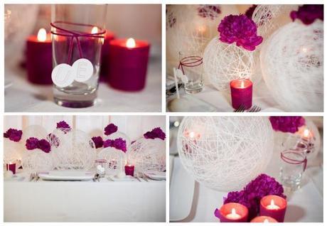 Idee per decorare la tavola del vostro matrimonio con un for Addobbi tavoli matrimonio con candele