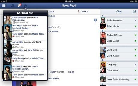 Facebook per iPad, l' app ufficiale per il tablet Apple