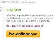 Miglior prezzo Samsung Galaxy Note 639,99 Expansys.it