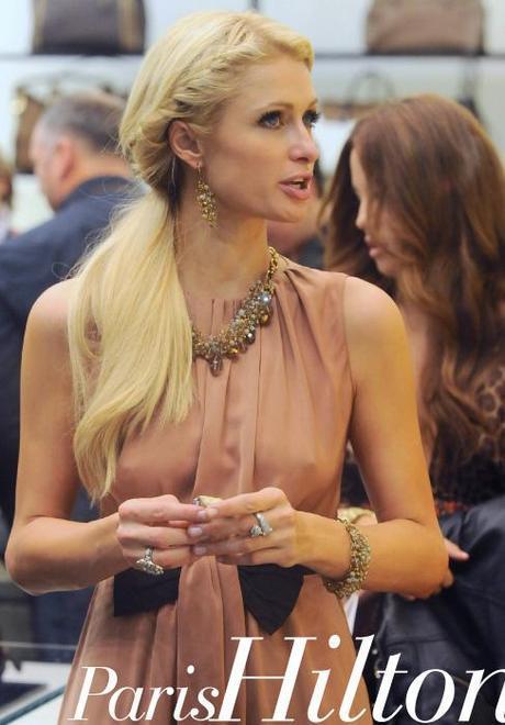 Paris Hilton in Pinko dress