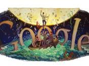 Google: Logo Doodle Ottobre 2011 anniversario dalla nascita Italo Calvino