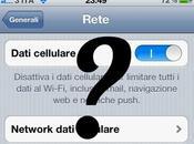 iPhone scompare possibilità disabilitare rete