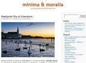 MINIMA MORALIA blog culturale Minimum
