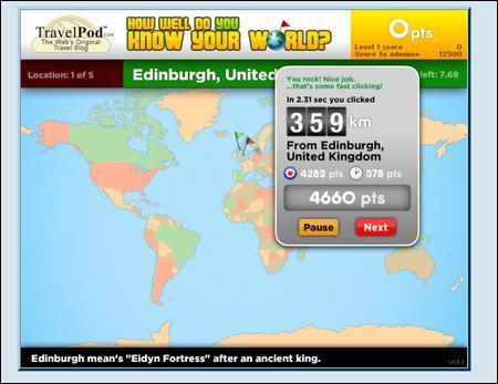 Giocare con la geografia online: Travelpod
