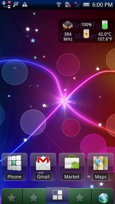 sfondo animato live wallpaper smartphone android sparkle