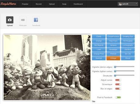 Simpleretro applicare effetti speciali alle foto for Effetti foto online