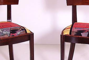 Sedie tessuto patchwork futurista art dec design for Sedie design tessuto