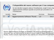 Disponibile Aggiornamento Software Thunderbolt.