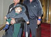 Elton John David Furnish… Insieme alle faccine figlio Zachary
