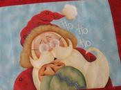 Copriforno natalizio dipinto cucito; nuovo corso Country Painting Novembre!!