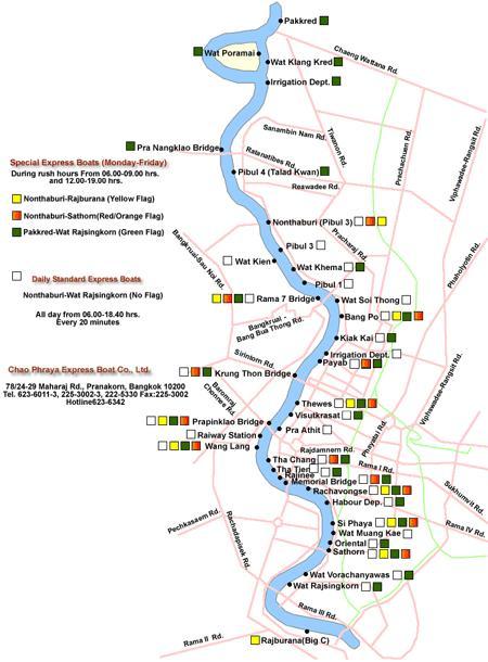 """Речные суда  """"ChaoPhrayaExpressBoat """" отправляются ежедневно от храма  """"WatRatsingkhon """" (район Riverside)..."""