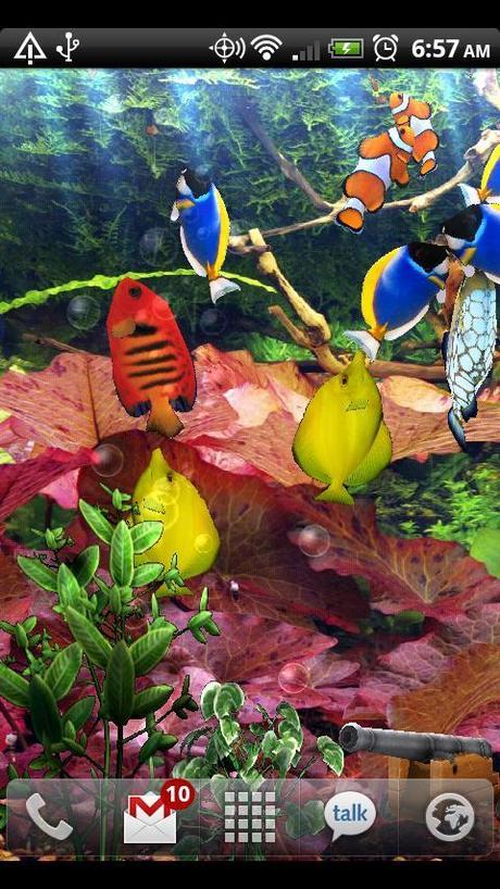 sfondo animato acquario per android paperblog